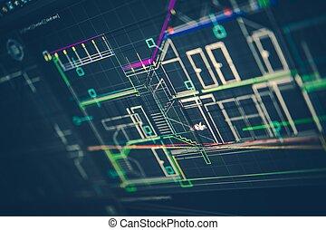 stavitelský, technické kreslení