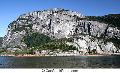 Stawamus Chief - A view of the sheer granite walls of the...