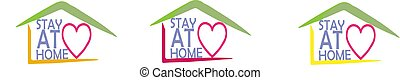 stay at home icon isolated on white background