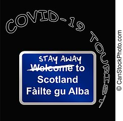 Stay away welcome to Scotland sign - Welcome to Scotland ...