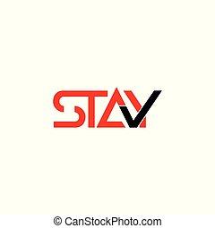 stay check mark symbol logo vector