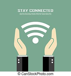 Stay connected poster