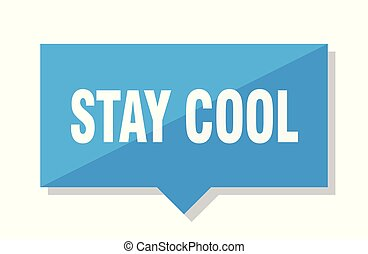 stay cool price tag - stay cool blue square price tag