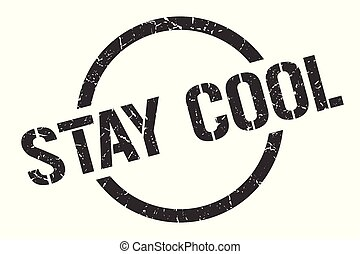 stay cool stamp - stay cool black round stamp
