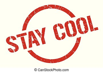 stay cool stamp - stay cool red round stamp