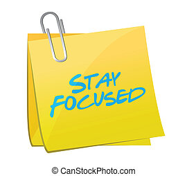 stay focused post message illustration design