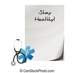 stay healthy medial paper illustration