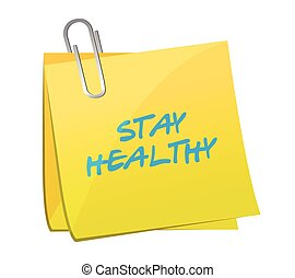 stay healthy post it illustration design