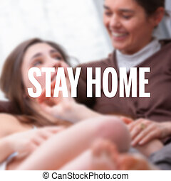 Stay Home poster for the coronavirus pandemic