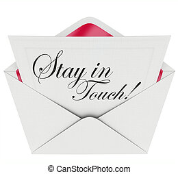 Stay in Touch Letter Communication Keeping Updated - Stay in...