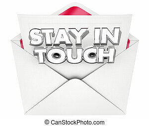 Stay in Touch Note Message Letter Envelope 3d Illustration