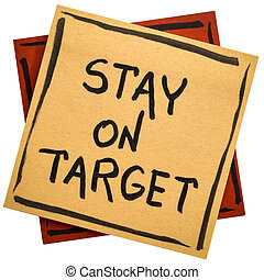 Stay on target reminder note