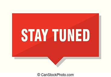 stay tuned red tag - stay tuned red square price tag