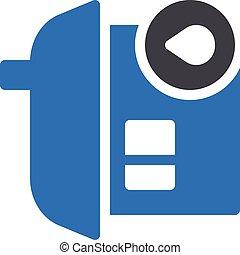 stay vector glyph color icon