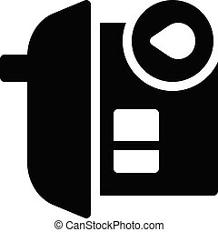 stay vector glyph flat icon