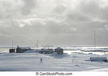stazione, antarctica., ricerca