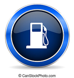 stazione benzina, gas, icona, segno