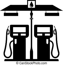 stazione benzina, icona