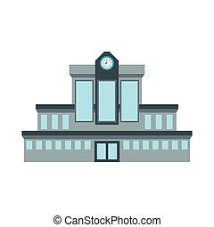 stazione ferroviaria, icona