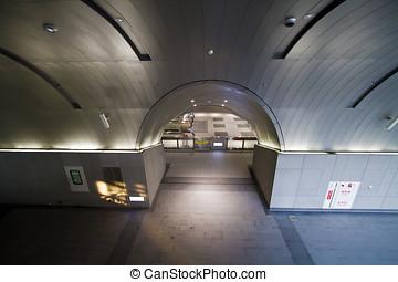 stazione, galleria, vuoto