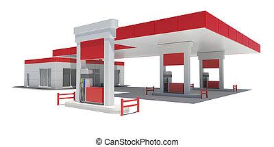 stazione, gas