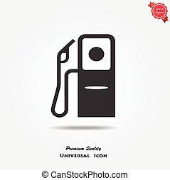stazione, gas, icona