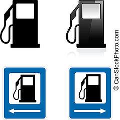 stazione, gas, segno