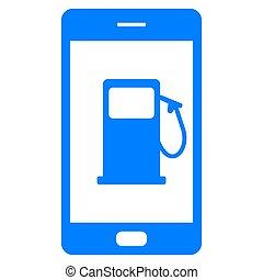 stazione, gas, smartphone
