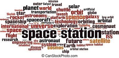 stazione, parola, nuvola, spazio