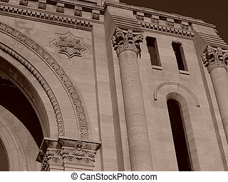 StBoniface Cathedral - Part of the fascade of the St....