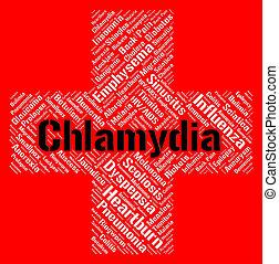 std, rappresenta, parola, chlamydia, malattia, trasmesso,...