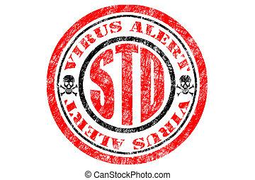std, virus, concept, alerte