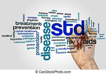 STD word cloud - STD concept word cloud background