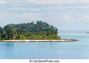 View of the beaches on the Sainte Anne Marine National Park, Seychelles, Indian Ocean, East Africa