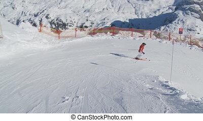 steadicam following skier