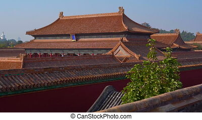 Steadicam shot of a inner part of the Forbidden city -...