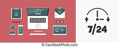 Steady available services  - Vector web icon