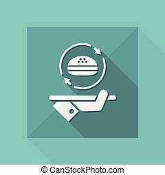 Steady fast-food service - Vector web icon