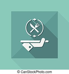 Steady food services - Vector web icon