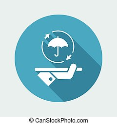 Steady full protection service - Vector web icon