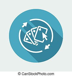 Steady online poker gaming - Vector web icon
