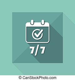 Steady services seven days - Vector web icon