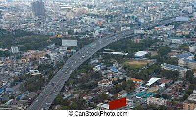 Steady Traffic Flowing through a Major Metropolitan City -...