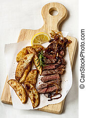 Steak and Potato Wedges