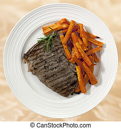 Steak and Sweet Potato Fries