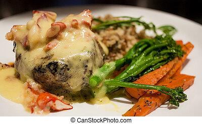 Steak Dinner with Bearnaise Sauce
