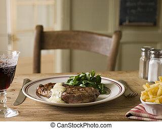 Steak Frite with Bearnaise Sauce