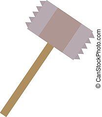 Steak hammer, illustration, vector on white background.