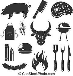 Steak House Elements Set