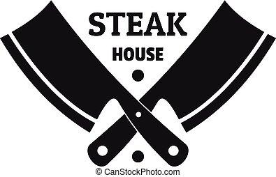 Steak house logo, simple style
